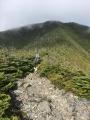 Matthew Batchelder heading across the ridge with the rig