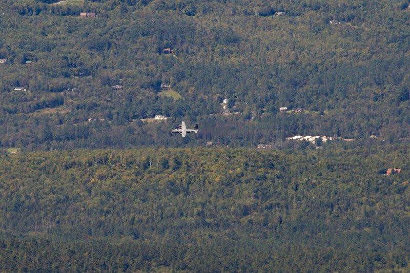 C-130 cruising by.