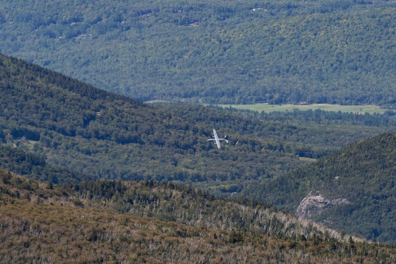 The C-130's turned sharply and went through Franconia Notch.