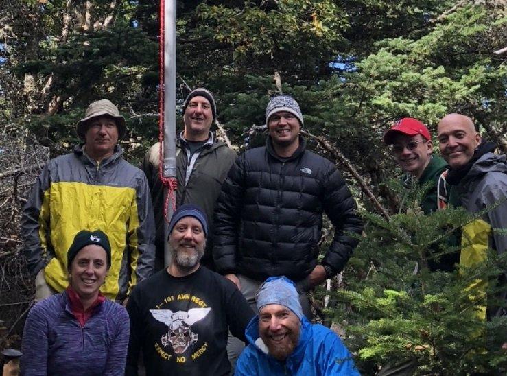Owls Head crew  Standing L to R  Scooter, Don, Jason, Matt, Chris  front row     Becky, Josh, Ben